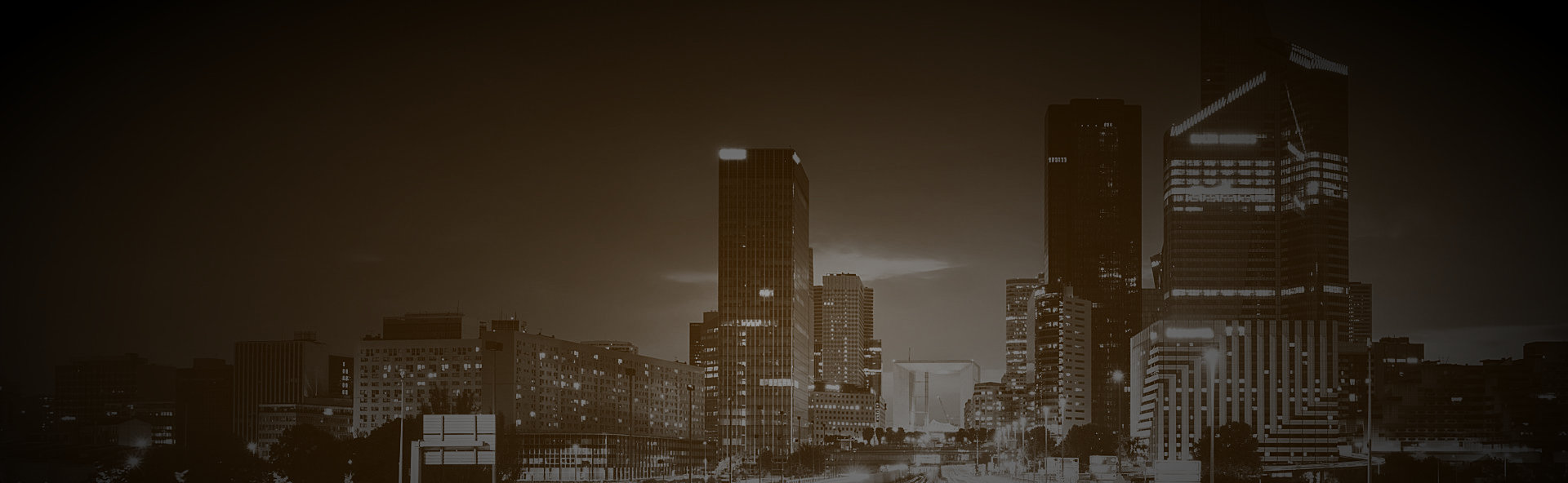 cities view with brown background